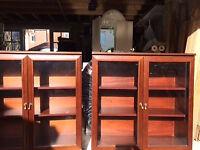 Pair Of Mahogany Finish Book/Display Units