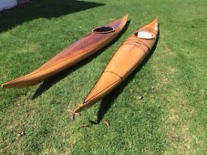 Handcrafted Cedarstrip/Fibreglass Sea Kayaks