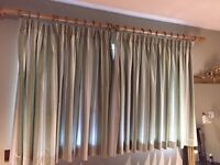 Pair of curtains in Ian Mankin fabric