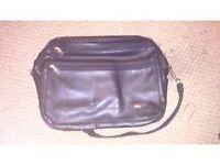 samsonite black leather laptop/travel/office bag,brand new!!