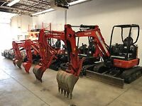 Bobcat's, Excavator's, for rent - FREE DELIVERY & PICK UP!