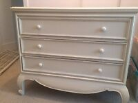 Cream chest of drawers, french style, solid wood