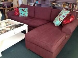 Modern modular sofa - eggplant colour - Pick Up Only - COWES VIC Cowes Bass Coast Preview