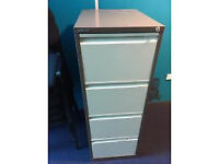 Bisley Coffee and Cream 4 Drawer Filing Cabinet