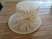 Beautiful cream coloured wedding hat from John Lewis