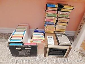 Eight Track Tapes and Player. D