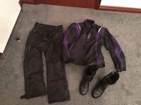 Ladies Motorcycle Jacket, Trousers and Boots
