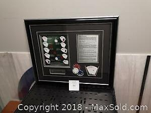 Bad Boys Poker Framed and Matted. Texas Hold'em Ensemble - A