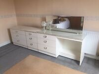 White Dressing Table and Chest of Drawers