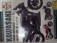 Kawasaki ER500 (ER-5) 1997 to 1999 /EX500 (GPZ500S '87-99) HAYNES MANUAL : CHEAP