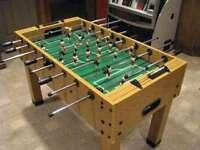 Butcher Block Style Foosball Table