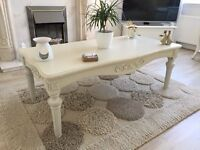 Laura Ashley Styled Ivory Coffee Table