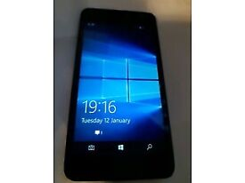 MICROSOFT LUMIA 550 BLACK COLOUR AND 8GB. ON EE NETWORK. DOES NOT ACCEPT WHATSAPP,