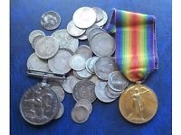 WANTED COIN STAMPS MEDALS BANKNOTES SMALL COLLECTABLES PLEASE CALL PETE ON 07979808744