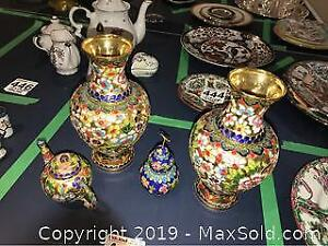 Chinese Cloisonne Vases A