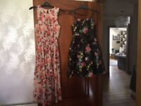 Two beautiful dresses - suitable for girls aged approx 10-12