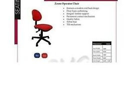 Ref2 Red Operator Task Computer Compact Office Chair Open For Collection in Lockdown Bulk Discount