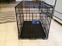 Folding Double Door Dog Crate $45 - Sml (24.5L x 17.5W x 19.5H)