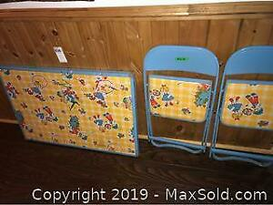 Childs Table and Chairs C