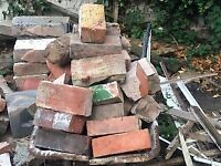 FREE BRICKS AND WINDOW FRAME WITH GLASS AND KEY