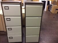 1 brown two tone filing cabinet