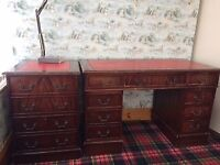 Office desk, chest of drawers and chair