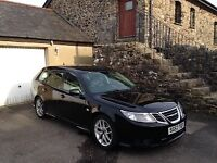 Saab 93 1.9 TiD Vector Sport, Diesel Automatic Estate, Black 57 Plate