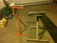 "2 Roller Stands plus 8-13"" rollers in brackets,mobile equipment"
