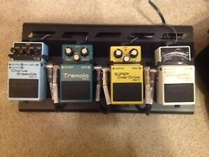 Pedalboard and BOSS pedals