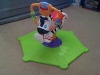 FISHER PRICE SPIN & BOUNCE ZEBRA. GREAT CONDITION