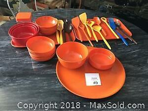 Melamine Bowls, Trays And Serving Utensils