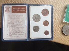 BRITAIN`S FIRST DECIMAL COINS SET