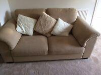 Large beige 2 seater IKEA sofa