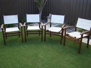 4 ex Freedom outside teak chairs Woodlands Stirling Area Preview