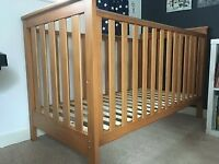 Mothercare Jamestown Cot bed / toddler bed, antique pine