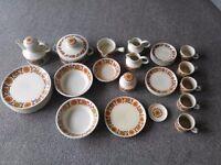 Midwinter dinner / tea service Woodland design. 38 pieces
