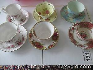 F. Tea Cups and Saucers A