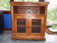 Solid sheesham/Indian rosewood Jali TV cupboard