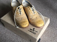 Womens lace up, all leather brogue style J Shoes brand. Unused. Size 4 (37). Very good quality.