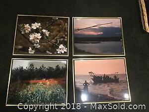 Set of 4 mounted photographs.