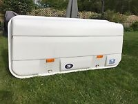 FIAMMA ULTRA-BOX Spacious cargo carrier good condition for rear of car / motorhome if roof occupied.