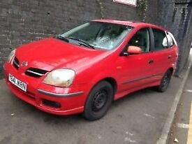 Nissan Almera Tino 2001 1.8 Petrol Red 5dr Breaking For Spares