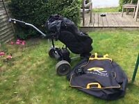 Powakaddy Classic golf trolley , including 18 hole battery and charger. Cart Bag is optional