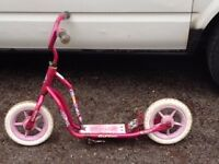 Pink girl's scooter with comfy tyres only £5