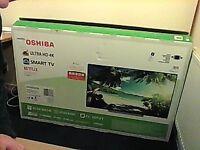 toshiba 55inch 4k smart tv as new