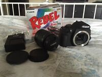 Canon Rebel EOS T5 DSLR Camera with 15-33mm lens