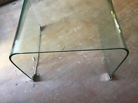 Contemporary Glass Side Table in excellent condition