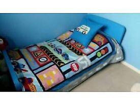 Blue Ikea Mammut Bed with Matttress!!