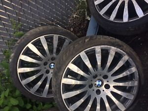 2 BMW RIMS and tires
