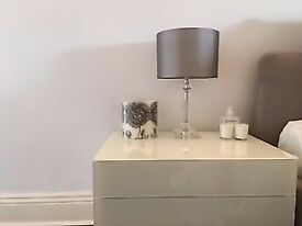 Pair of Laura Ashley Paloma Glass Table Lamps